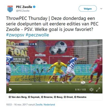 PEC Zwolle - PSV eredivisie
