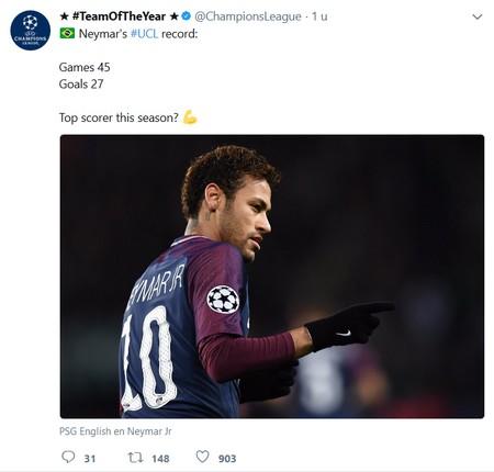 Europees voetbal topscorer Neymar