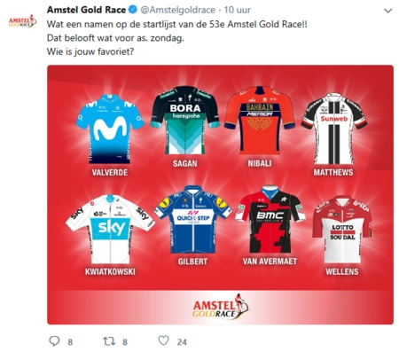 Amstel Gold Race 2018 de favorieten