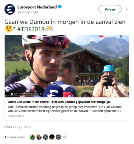 Tour de France bergetappes. Kansen voor Tom Dumoulin?