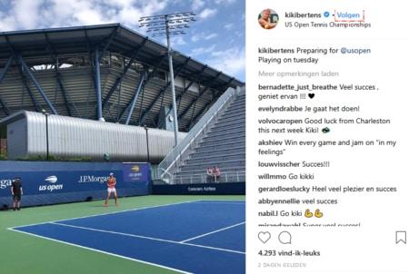 Kiki Bertens op de US Open 2018. Maakt ze kans?