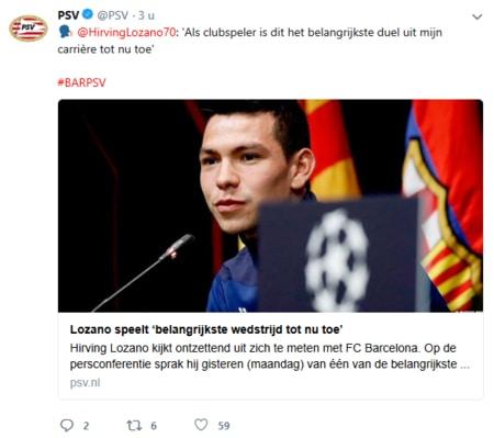 Lozano over PSV Champions League kansen tegen Barcelona