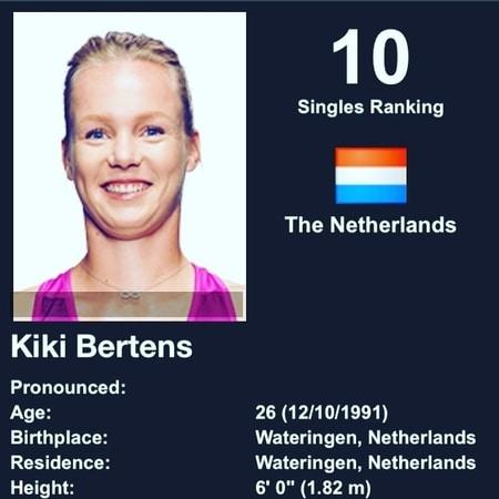 Kiki Bertens top 10 speelster sinds deze week
