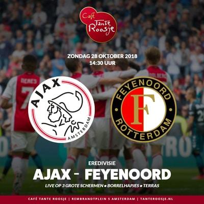 Lekker Ajax Feyenoord kijken komend weekend