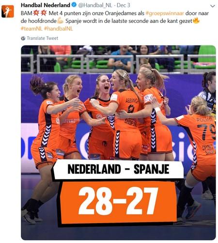Winst op het EK handbal voor vrouwen 2018?