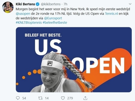 Kiki Bertens Tennis US Open 2019