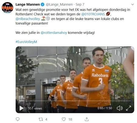 EK Volleybal mannen 2019 twitter