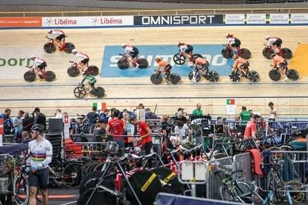 Topsport bij het EK baanwielrennen in Apeldoorn foto organisatie