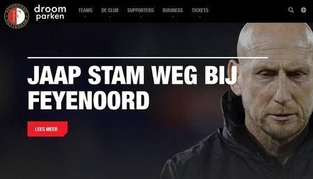 Jaap Stam weg als Feyenoord trainer