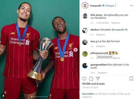 blij met de overwinning wk clubteams en nu door naar het premier league programma rond de feestdagen (liverpool instagram)